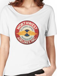 Northwest Airlines Vintage sign Women's Relaxed Fit T-Shirt