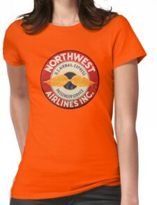 Northwest Airlines Vintage sign Womens Fitted T-Shirt