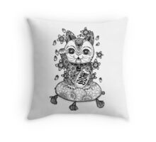Maneki Neko  Throw Pillow