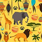 African Animal Patterned Products by Vickie Emms