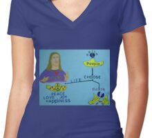 God, the Beatles, and the Yellow Submarine Women's Fitted V-Neck T-Shirt