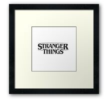 Stranger Things - Black Framed Print