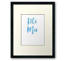 Phi Mu Framed Print