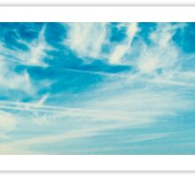 blu sky with clouds Sticker