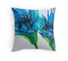 Blue Poppy II Throw Pillow