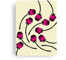 Rose - Pink/Nude Canvas Print