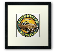 Datsun 2000 Fairlady Authorized service Framed Print
