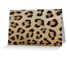 Leopard Skin Pattern - Natural Camouflage and Art Greeting Card
