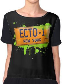 Ghostbusters ecto-1 license plate Chiffon Top