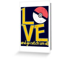Poke-Love #3-b Greeting Card