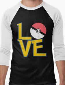 Poke-Love #3 Men's Baseball ¾ T-Shirt