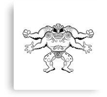 Machamp de los Muertos   Pokemon & Day of The Dead Mashup Canvas Print