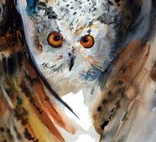 White small owl Sticker