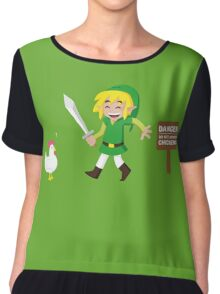 Link and the chickens... Chiffon Top