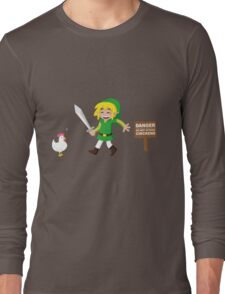 Link and the chickens... Long Sleeve T-Shirt