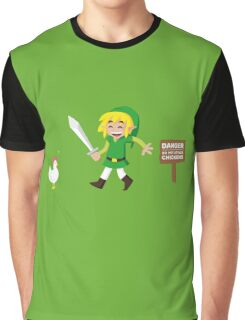 Link and the chickens... Graphic T-Shirt