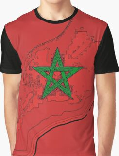 Moroccan Flag Star Graphic T-Shirt