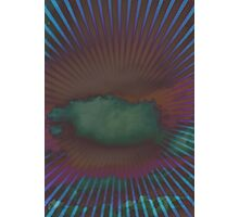 Psychedelic clouds print Photographic Print
