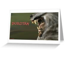 Durotan Warcraft Greeting Card