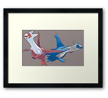 Latios and Latias Framed Print