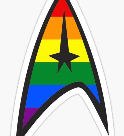 Gay Star Trek Emblem Sticker