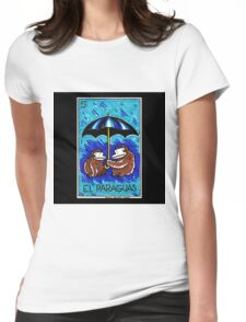 Loteria Apes #5: El Paraguas Womens Fitted T-Shirt
