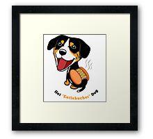 Hot Entlebucher Dog Framed Print