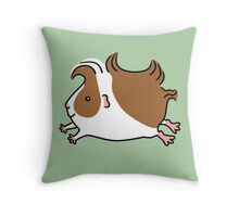 Leaping Guinea-pig ...Brown and White Throw Pillow