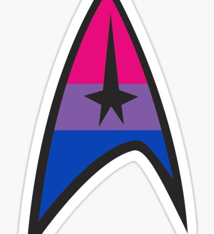 Bisexual Star Trek Emblem Sticker