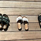 shoes on a hot deck by Margaret  Shark