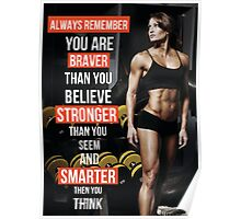 You Are Braver And Stronger Than You Believe Poster