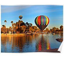 Balloon Reflection Poster