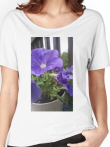 Patient Purple Petunias After Rain Women's Relaxed Fit T-Shirt