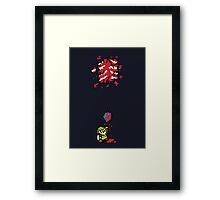 Link got a heart (super nes edition) Framed Print