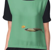 Fish with a leaf Chiffon Top