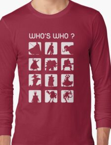 Who's who ? (bad guys edition) Long Sleeve T-Shirt