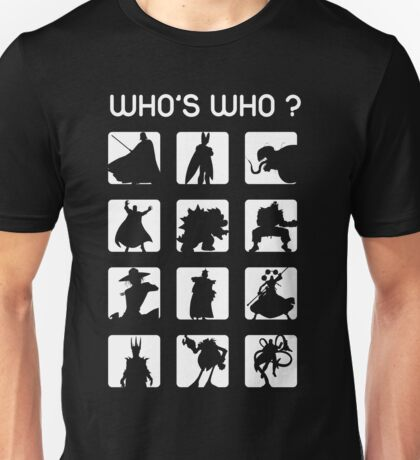 Who's who ? (bad guys edition) Unisex T-Shirt
