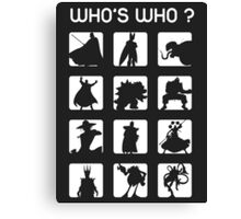 Who's who ? (bad guys edition) Canvas Print