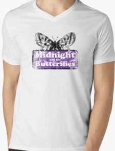Midnight and the Butterflies Mens V-Neck T-Shirt