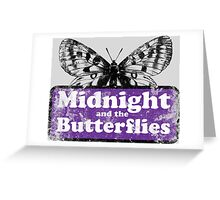 Midnight and the Butterflies Greeting Card