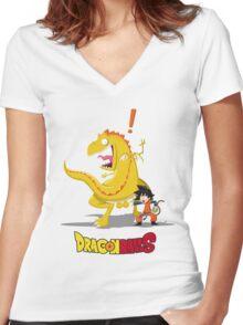 Dragon BallS Women's Fitted V-Neck T-Shirt
