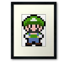 Pixel Luigi Framed Print