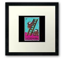 Loteria Apes #7: La Escalera Framed Print