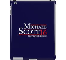 MICHAEL SCOTT 2016 THAT'S WHAT SHE SAID THE OFFICE iPad Case/Skin