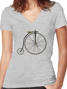Penny Farthing Women's Fitted V-Neck T-Shirt