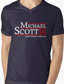 MICHAEL SCOTT 2016 THAT'S WHAT SHE SAID THE OFFICE Mens V-Neck T-Shirt