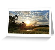 Butler County Sunset Greeting Card