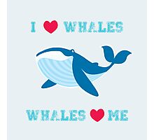 I love whales,whales loves me Photographic Print