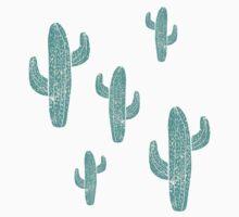Linocut Cacti Candy Kids Tee