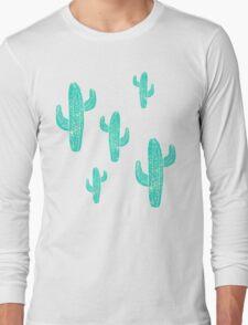Linocut Cacti Candy Long Sleeve T-Shirt